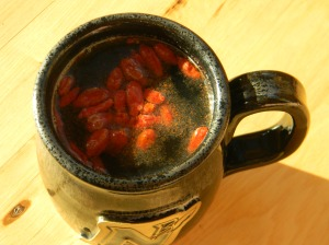 Wah lah! Here you have it...Goji Berry Tea!