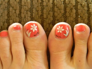 Made sure I had a pedi to hide missing toenails and to take the eye away from my bruised tootsies.