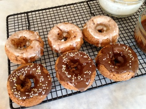 These are Chocolate Covered Katie's Homemade Krispy Kreme Doughnuts (the healthy version).