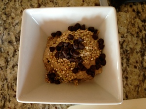 Chocolate Covered Katie's Peanut Butter Breakfast Pudding