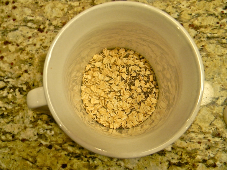 Old fashioned oats and chia seeds...