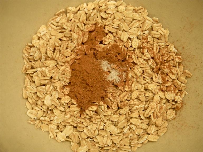 Oatmeal, cinnamon and sea salt...