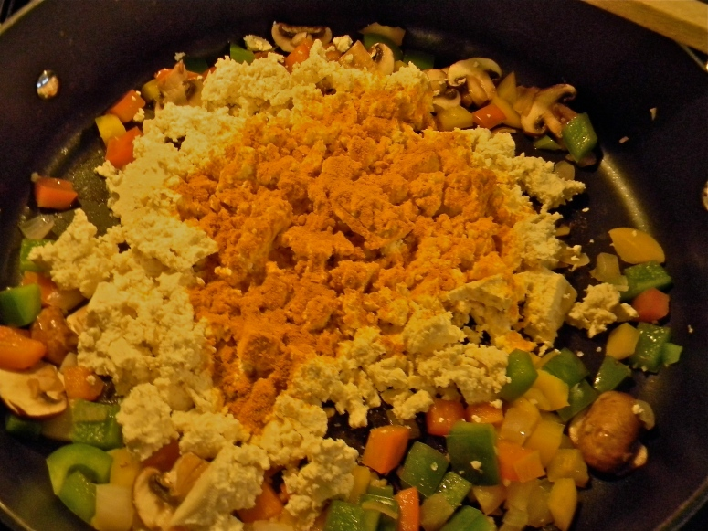 A little turmeric, a little nutritional yeast, and a sprinkling of sea salt...