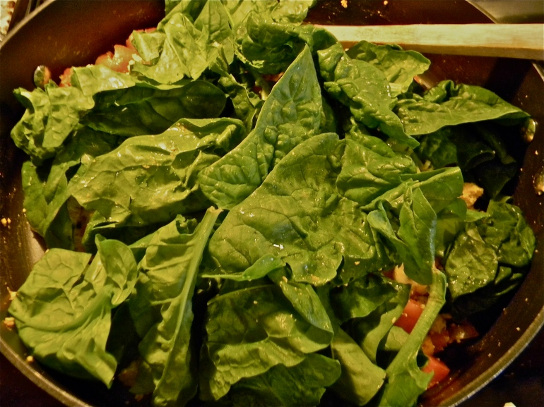 ...and spinach...