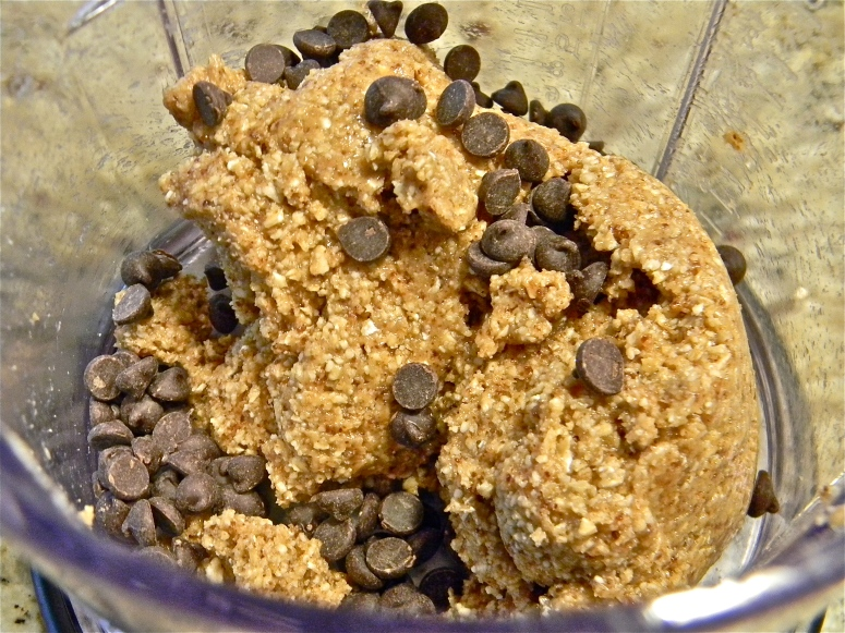 Add some mini chocolate chips, and stick in the fridge.
