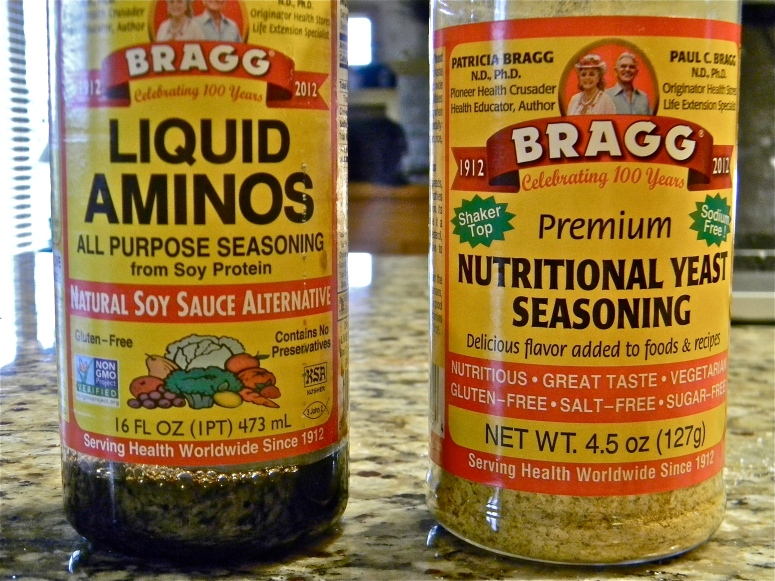 A little liquid aminos, and a little nutritional yeast...