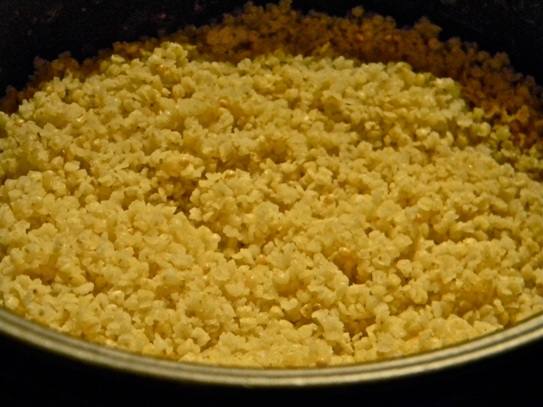 Cooked millet!