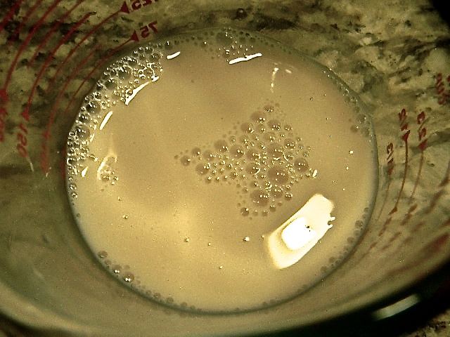 almond milk and apple cider vinegar...