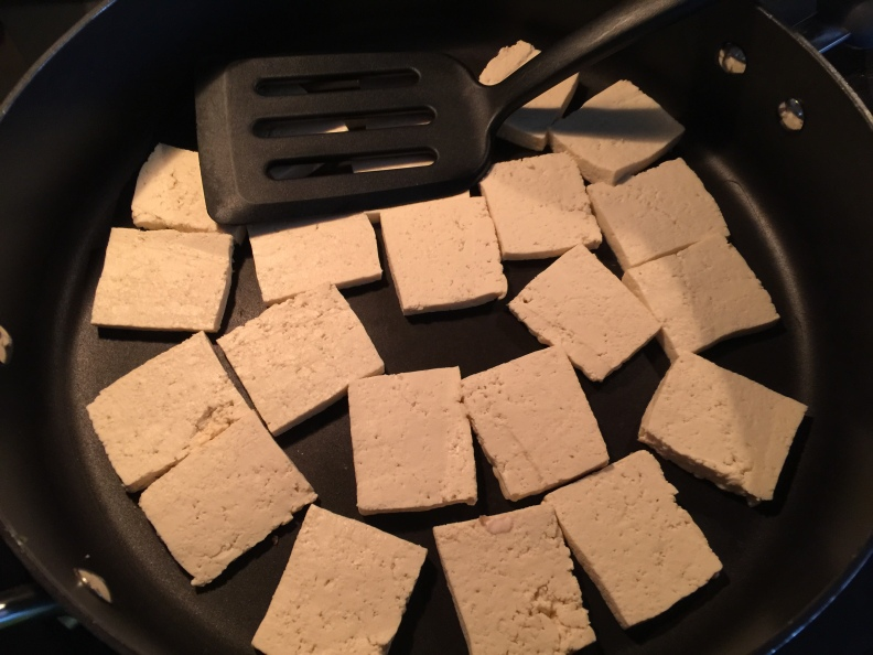 Tofu before...